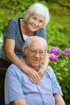 Senior couple happy