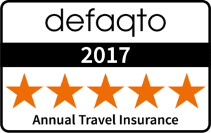 Defaqto 5 Star Rated Annual Multi-Trip Travel Insurance