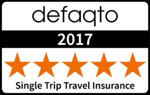 Defaqto 5 Star Rated Single Trip Travel Insurance