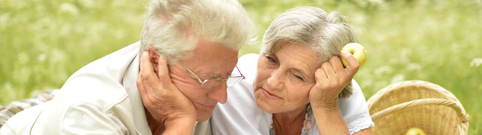 Senior couple posing for the camera