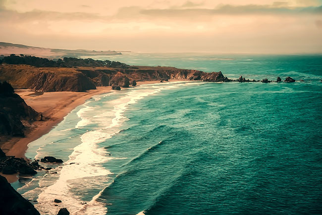 Beach in Californian coast