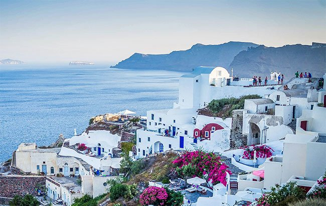 White houses on a Greek island
