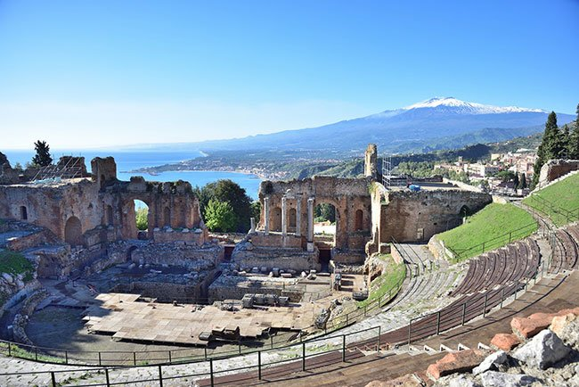 Ancient theatre in Sicily