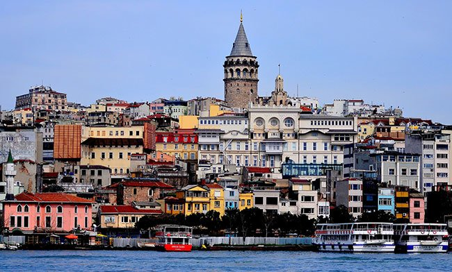 Houses in Istanbul in front of the sea