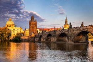 Charles Bridge Prague Sunset