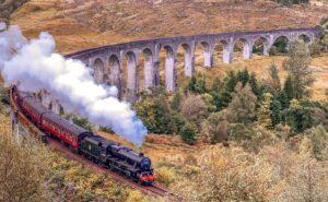 steam train in Scotland