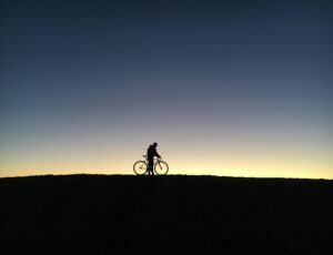 cycling in the morning